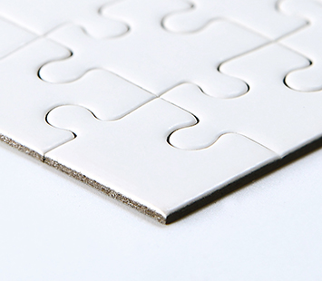 Cardboard Plain Blank Jigsaw Puzzles
