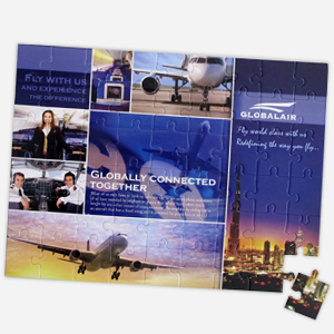 12 x 16.5 inch 54-piece puzzle for business