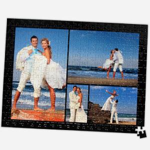16x12 wedding collage-puzzle