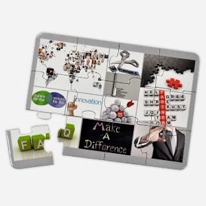 7 x 5 inch 12-piece custom promotional puzzle