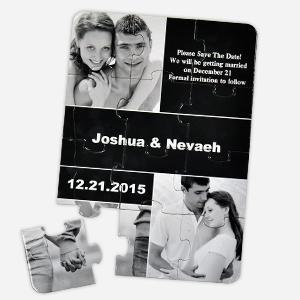 Personalized Wedding Photo Puzzle Invite Card