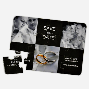 Save The Date Invitation Puzzle Card