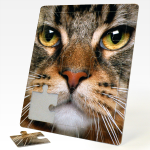 8 x 10 inch custom standing tray puzzles