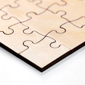 Blank wooden puzzles
